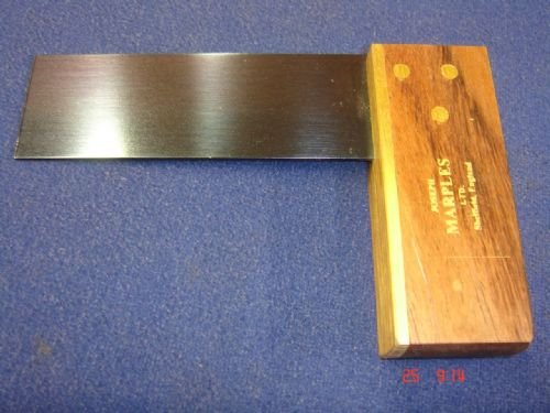 "Joseph Marples Rosewood Carpenters Mini Try Square 75mm 3"" Brass Sheffield 19G"